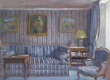 Blue Bedroom in Paris, 2016